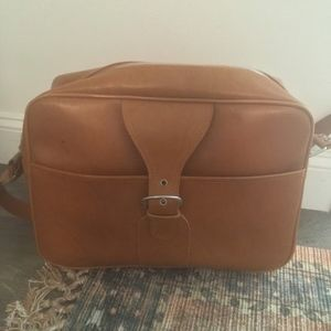 Vintage Camel Luggage Bag